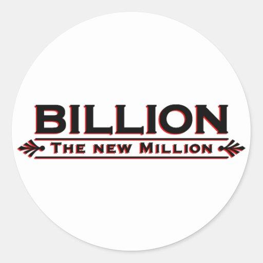 Mil millones el nuevo millón pegatina redonda