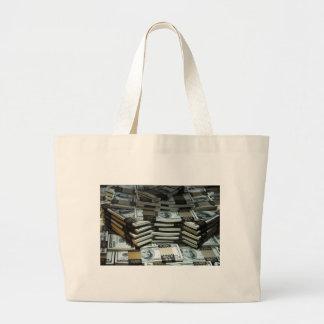 Mil millones mujeres del dólar bolsa tela grande