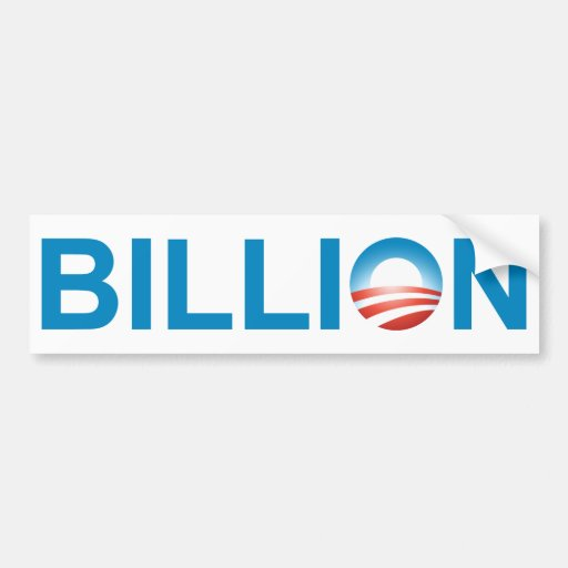 Mil millones pegatina para auto