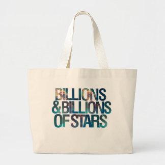 Mil millones y mil millones de estrellas bolsa tela grande