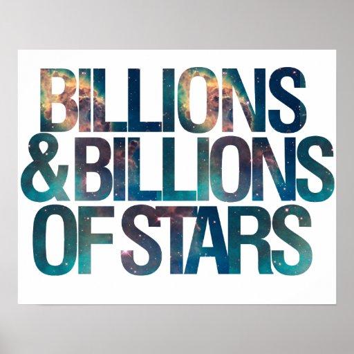 Mil millones y mil millones de estrellas posters