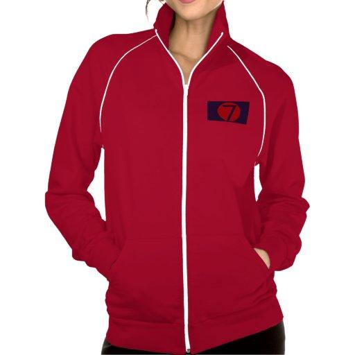 Mil novecientos noventa 7, numeran el logotipo 7 chaquetas