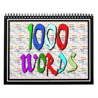 Mil palabras - 1000 palabras calendarios