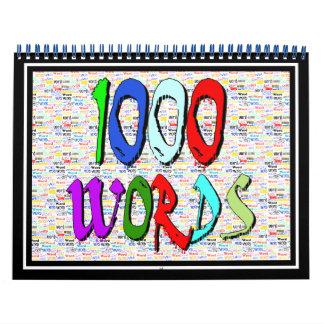 Mil palabras - 1000 palabras calendarios de pared