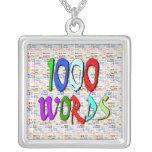Mil palabras - 1000 palabras pendiente personalizado