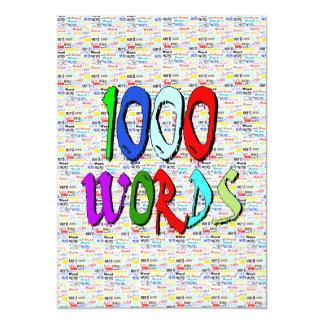 """Mil palabras - 1000 palabras invitación 5"""" x 7"""""""