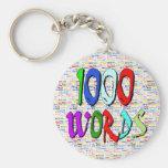 Mil palabras - 1000 palabras llaveros personalizados
