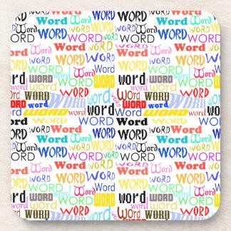 Mil palabras - fondo de 1000 palabras posavasos de bebidas