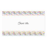 Mil palabras - fondo de 1000 palabras tarjetas de visita