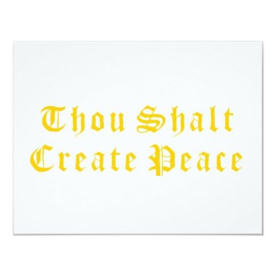 """Mil Shalt crea paz Invitación 4.25"""" X 5.5"""""""