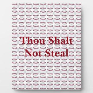 Mil Shalt no robar Placas De Madera
