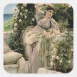 """""""Mil subió de todos los rosas, 1885 (el aceite en Pegatina Cuadrada"""