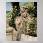"""""""Mil subió de todos los rosas, 1885 (el aceite en  Póster"""