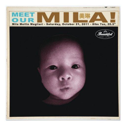 """mila2 5.25"""" square invitation card"""