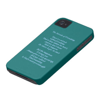 Milagro de la caja intrépida de la baya del negro Case-Mate iPhone 4 fundas