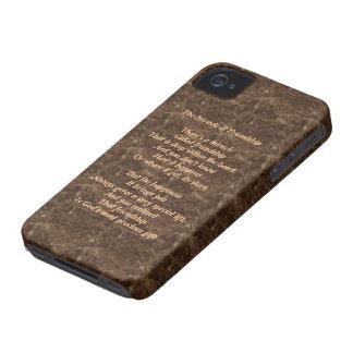 Milagro de la caja intrépida de la baya del negro iPhone 4 fundas