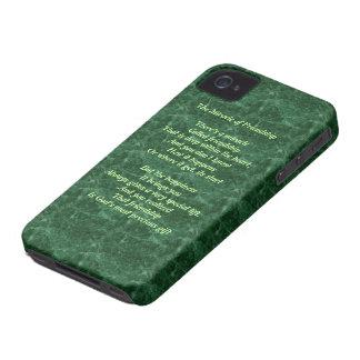 Milagro de la caja intrépida de la baya del negro iPhone 4 carcasa