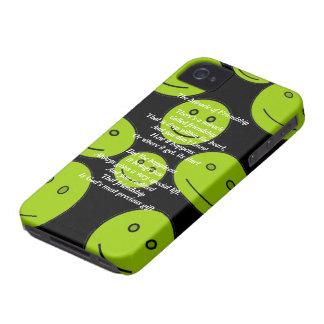 Milagro de la caja intrépida de la baya del negro Case-Mate iPhone 4 protectores