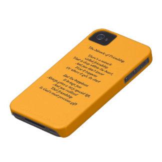 Milagro de la caja intrépida de la baya del negro iPhone 4 Case-Mate fundas