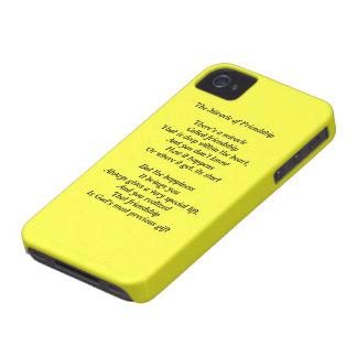 Milagro de la caja intrépida de la baya del negro Case-Mate iPhone 4 cárcasa