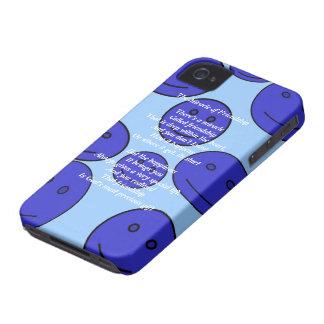Milagro de la caja intrépida de la baya del negro Case-Mate iPhone 4 cobertura