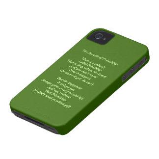 Milagro de la caja intrépida de la baya del negro Case-Mate iPhone 4 protector