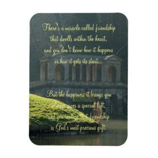 Milagro de la placa del poema de la amistad imán