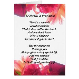 Milagro de la tarjeta de la amistad