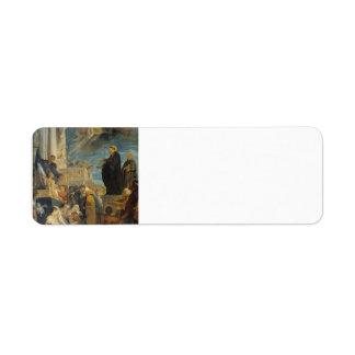 Milagro de Peter Paul Rubens- de St Francis Etiquetas De Remite
