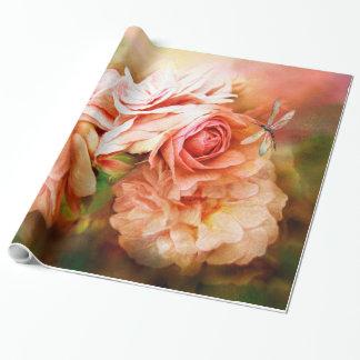 Milagro de un color de rosa - papel de regalo del