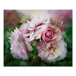 Milagro de un color de rosa - poster/impresión de  póster