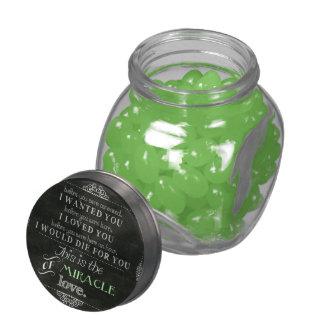 Milagro del amor jarras de cristal