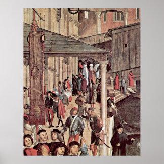 Milagro del detalle de la reliquia de Vittore Carp Póster