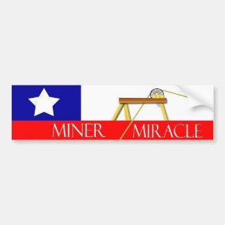 Milagro del minero en Chile Etiqueta De Parachoque