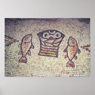Milagro del pan y de los pescados poster