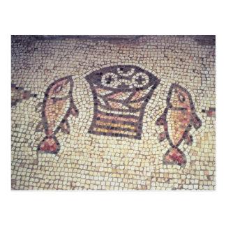 Milagro del pan y de los pescados tarjetas postales