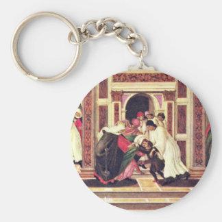 Milagro pasado y la muerte de St. Zenobius Llavero Redondo Tipo Pin