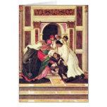Milagro pasado y la muerte de St. Zenobius Tarjeta De Felicitación