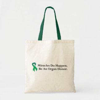 Milagro verde de la cinta bolsa tela barata