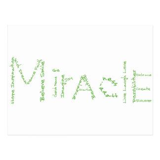 Milagro - verde - el wow de febrero postales