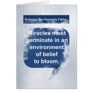 Milagros, creencia y floración tarjeta de felicitación