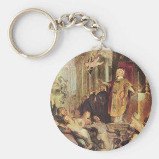 Milagros de St Ignatius de Loyola de Paul Rubens Llavero Redondo Tipo Pin