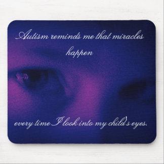 Milagros del autismo púrpuras tapetes de ratones