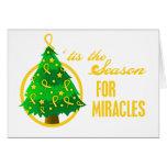 Milagros del navidad del cáncer de la niñez tarjeta
