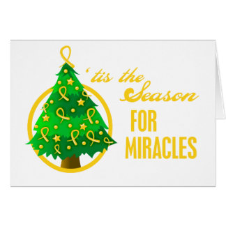 Milagros del navidad del cáncer de la niñez tarjeta de felicitación