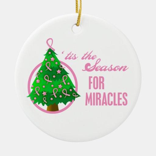 Milagros del navidad del cáncer de pecho ornamentos para reyes magos