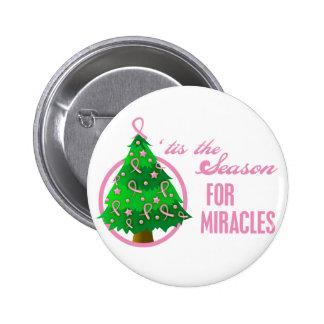 Milagros del navidad del cáncer de pecho pin
