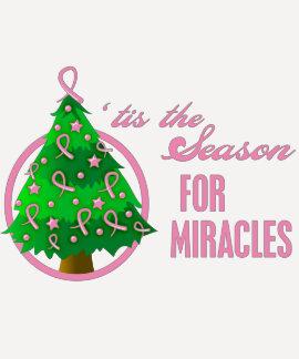 Milagros del navidad del cáncer de pecho camisetas