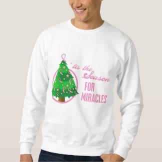 Milagros del navidad del cáncer de pecho sudaderas