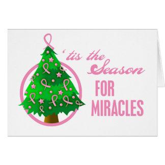 Milagros del navidad del cáncer de pecho tarjeta de felicitación